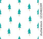 tree seamless pattern vector | Shutterstock .eps vector #1215482209