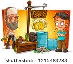 cartoon alcoholic  bad guys... | Shutterstock .eps vector #1215483283