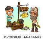 cartoon alcoholic  bad guys... | Shutterstock .eps vector #1215483289