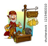 cartoon pirate character with... | Shutterstock .eps vector #1215483310