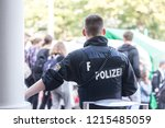 german hesse police officer   Shutterstock . vector #1215485059