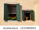 view of house windows with... | Shutterstock . vector #1215485833