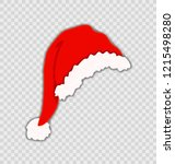 vector santa's hat isolated on...