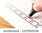 checklist  keeping score of...   Shutterstock . vector #1215505246