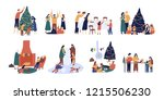 bundle of people preparing for... | Shutterstock .eps vector #1215506230
