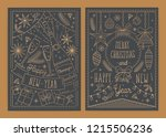 bundle of christmas and new... | Shutterstock .eps vector #1215506236