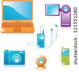 multimedia equipment icons | Shutterstock .eps vector #121551280