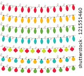 christmas lights  vector... | Shutterstock .eps vector #121551460