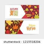 bundle of autumn banner ... | Shutterstock .eps vector #1215518206