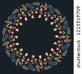 christmas hand drawn wreath... | Shutterstock .eps vector #1215519709