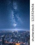 stars of the milky way glowing... | Shutterstock . vector #1215524656