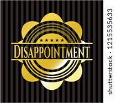 disappointment gold badge | Shutterstock .eps vector #1215535633