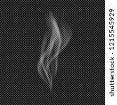 white flow of smoke from... | Shutterstock .eps vector #1215545929