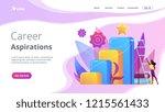 businessman and woman start... | Shutterstock .eps vector #1215561433