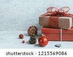 beautiful christmas background... | Shutterstock . vector #1215569086