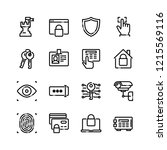 security icons set | Shutterstock .eps vector #1215569116