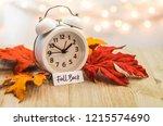 fall back daylight saving time... | Shutterstock . vector #1215574690