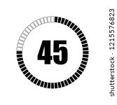 countdown digital timer vector...
