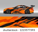 car decal design vector.... | Shutterstock .eps vector #1215577393