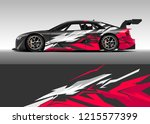 car decal design vector.... | Shutterstock .eps vector #1215577399