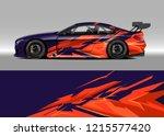 car decal design vector....   Shutterstock .eps vector #1215577420