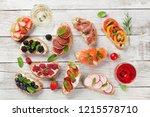 brushetta or traditional... | Shutterstock . vector #1215578710