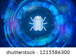 hacker bug for internet... | Shutterstock .eps vector #1215586300