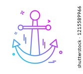 swimming icon design vector  | Shutterstock .eps vector #1215589966