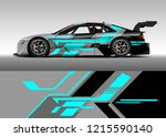 racing car wrap design vector.... | Shutterstock .eps vector #1215590140