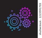 labour tools icon design vector | Shutterstock .eps vector #1215591703