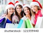 Happy Group Of Women Christmas...