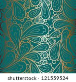 doodle paisley seamless pattern. | Shutterstock .eps vector #121559524