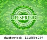 offspring green emblem with... | Shutterstock .eps vector #1215596269