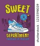 classic sneaker. sport wear for ... | Shutterstock .eps vector #1215598039