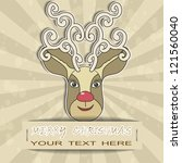 merry christmas card | Shutterstock .eps vector #121560040