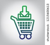 add to shopping cart sign.... | Shutterstock .eps vector #1215600613