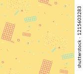 retro memphis texture. seamless ... | Shutterstock .eps vector #1215603283