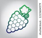 grapes sign illustration.... | Shutterstock .eps vector #1215604579