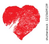 set of hearts . grunge stamps... | Shutterstock .eps vector #1215609139