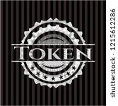 token silver emblem or badge | Shutterstock .eps vector #1215612286