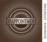 disappointment wooden emblem.... | Shutterstock .eps vector #1215612466