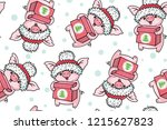 seamless pattern with cute... | Shutterstock .eps vector #1215627823