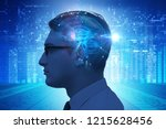 artificial intelligence concept ... | Shutterstock . vector #1215628456