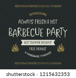 """""""bbq party"""". retro styled... 