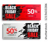 two black friday sale banners...   Shutterstock .eps vector #1215633286