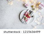 Christmas Table Setting With ...