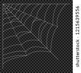 cobweb. vector spider web.... | Shutterstock .eps vector #1215639556