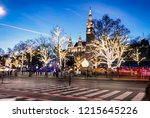 rathaus  town hall  at... | Shutterstock . vector #1215645226