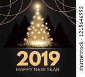 happy new 2019 year  elegant... | Shutterstock .eps vector #1215646993