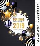 happy new 2019 year  shining... | Shutterstock .eps vector #1215646999